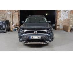 Защита переднего бампера для Volkswagen Tiguan (2011-2015) VWTG.10.F3-20 d60мм x 1.6