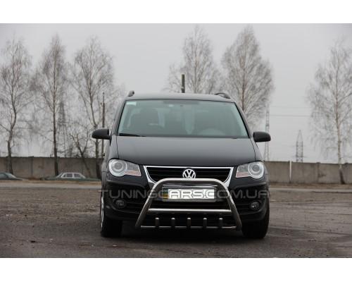 Защита переднего бампера для Volkswagen Touran I (2003-2005) VWTR.03.F1-03 d60мм x 1.6