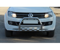 Защита переднего бампера для Volkswagen Amarok (2010+) VWAM.10.F3-27 d60мм x 1.6