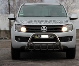 Защита переднего бампера для Volkswagen Amarok (2010+) VWAM.10.F1-02 d60мм x 1.6