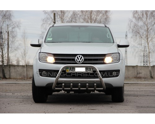 Защита переднего бампера для Volkswagen Amarok (2010+) VWAM.10.F1-03 d60мм x 1.6