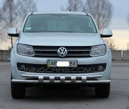 Защита переднего бампера для Volkswagen Amarok (2010+) VWAM.10.F3-12L d60мм x 1.6