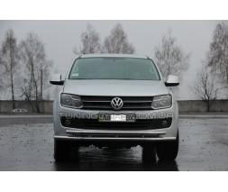 Защита переднего бампера для Volkswagen Amarok (2010+) VWAM.10.F3-24 d60мм x 1.6