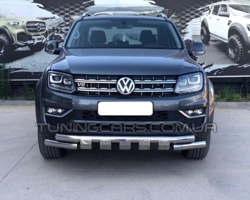 Передняя защита ус Volkswagen Amarok  (10+) VWAM.10.F3-08