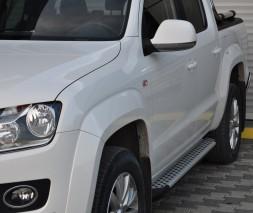 Пороги Volkswagen Amarok [2010+] AB004 (Artemis Silver)