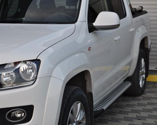 Пороги Volkswagen Amarok (2010+) AB004 (Artemis Silver)