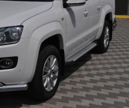 Пороги Volkswagen Amarok [2010+] AB006 (с подсветкой)