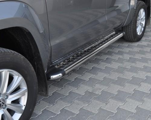 Пороги площадка для Volkswagen Amarok (2010+) S2-02