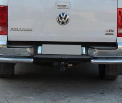Защита заднего бампера (углы) для Volkswagen Amarok (2010+) VWAM.10.B1-09 d60мм x 1.6