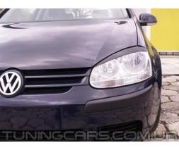Накладки на фары (реснички) Volkswagen Golf 5, Гольф 5