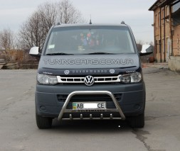 Защита переднего бампера для Volkswagen Transporter T5 (2009-2016) VWT5.09.F1-21 d60мм x 1.6
