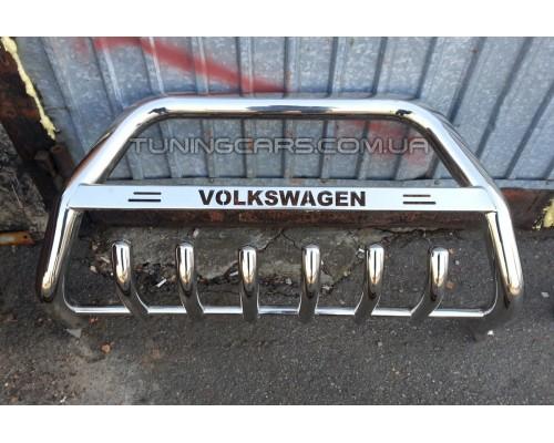 Защита переднего бампера для Volkswagen Transporter T5 (2003-2009) VWT5.03.F1-10 d60мм x 1.6