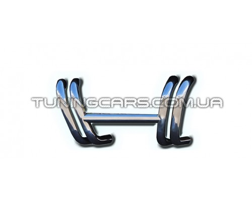 Защита переднего бампера для Volkswagen Transporter T5 (2003-2009) VWT5.03.F3-02 d60мм x 1.6