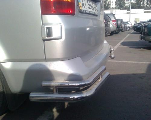 Защита заднего бампера Volkswagen Transporter [2003+] (двойные)