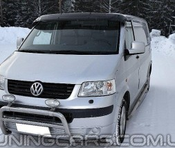 """Козырек лобового стекла """"Черный"""" (глянец) для Volkswagen T5, Фольксваген Т5"""