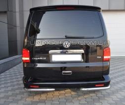 Защита заднего бампера (углы) для Volkswagen Transporter T5 (2003-2009) VWT5.03.B1-09 d60мм x 1.6
