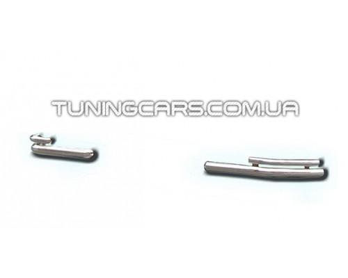 Защита заднего бампера (углы) для Volkswagen Transporter T5 (2003-2009) VWT5.03.B1-12 d60мм x 1.6