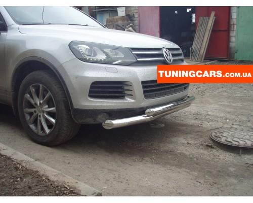 Защита переднего бампера для Volkswagen Touareg