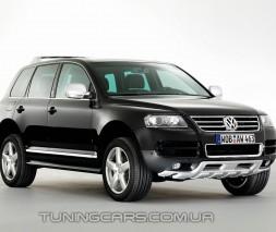 Накладка на передний бампер Volkswagen Touareg 2003+, Фольксваген Туарег