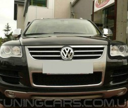"Накладка на передний бампер Volkswagen Touareg 06-09 ""King Kong"""