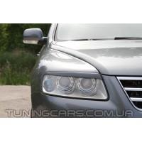 Накладки на фары (реснички) Volkswagen Touareg (2003-2006)