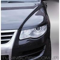 Накладки на фары (реснички) Volkswagen Touareg (2006-2009)