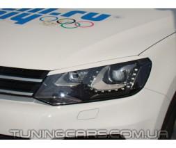 Накладки на фары (реснички) Volkswagen Touareg 2010+