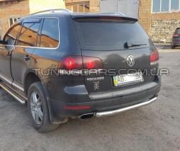 Защита заднего бампера для Volkswagen Touareg (2002-2012) VWTG.02.B1-02 d60мм x 1.6