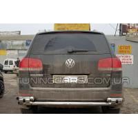 Защита заднего бампера для Volkswagen Touareg (2007-2010) VWTG.07.B1-08 d60мм x 1.6