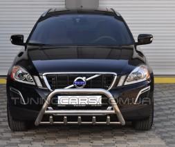 Защита переднего бампера для Volvo XC60 (2008-2013) VLXC.08.F1-03 d60мм x 1.6