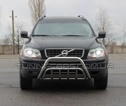 Защита переднего бампера для Volvo XC90 (2008-2013) VLX9.08.F1-02 d60мм x 1.6