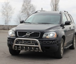 Защита переднего бампера для Volvo XC90 (2008-2013) VLX9.08.F1-13 d60мм x 1.6