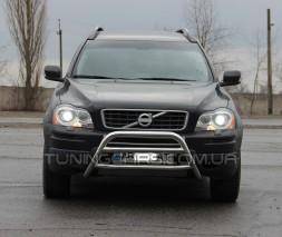 Защита переднего бампера для Volvo XC90 (2008-2013) VLX9.08.F1-16 d60мм x 1.6