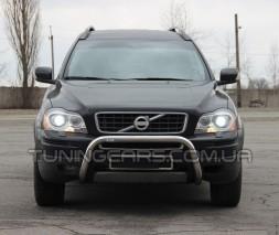 Защита переднего бампера для Volvo XC90 (2008-2013) VLX9.08.F1-35 d60мм x 1.6