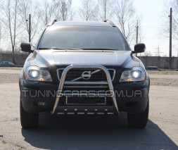 Защита переднего бампера для Volvo XC90 (2008-2013) VLX9.08.F1-36 d60мм x 1.6