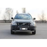 Защита переднего бампера для Volvo XC90 (2008-2013) VLX9.08.F3-10 d60мм x 1.6