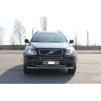 Защита переднего бампера для Volvo XC90 (2008-2013) VLX9.08.F3-20 d60мм x 1.6