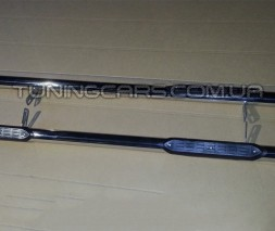 Пороги трубы с накладками Volvo XC-90 (08-13) VLX9.08.S1-02