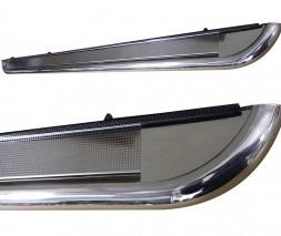 Пороги площадка для Ford Kuga (2008-2012) FDKG.08.S2-01 d60мм x 1.6