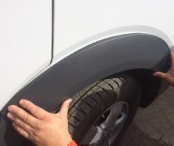 Накладки на арки широкие (4 шт, пластик) Volkswagen Crafter 2006-2017