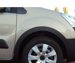 Накладки на арки (4 шт, черные) Peugeot Partner Tepee 2008-2018