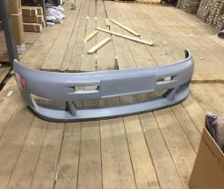 Накладка на передний бампер Озель V2 (под покраску) Mercedes Vito W638 1996-2003