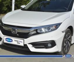 Уголки на передний бампер (под покраску) Honda Civic Sedan X (2016)
