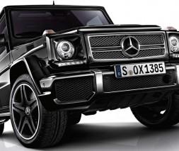Mercedes W463 Передний бампер AMG (в сборе) G65 (черная сетка)