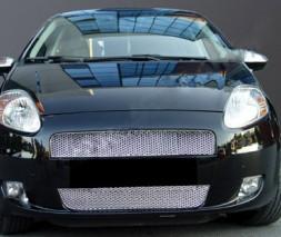 Накладки на решетку радиатора (2 част., нерж.) Fiat Punto Grande/EVO 2006 и 2011