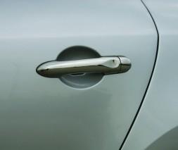 Накладки на ручки (4 шт., нерж.) Renault Fluence 2009