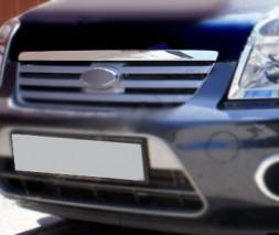 Форд Коннект хром на кант решетки из нержавейки