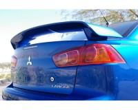 Спойлер (под покраску) Mitsubishi Lancer X 2008