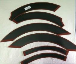 Накладки на колесные арки (6 шт, пластик) Renault Master 2004-2010