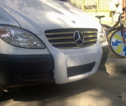 Передняя губа (под покраску) Mercedes Viano 2004-2015